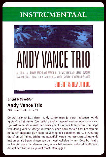 Andy Vance Trio - Bright & Beautiful